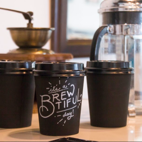 chalkboard coffee cups