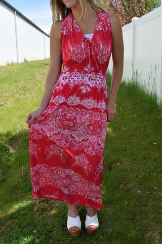 Milani Halter Maxi Dress - Hot Pink