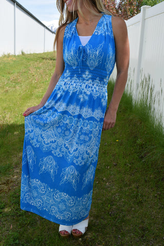 Milani Halter Maxi Dress - Blue
