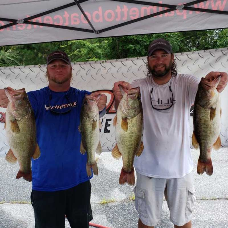 Joe Anders and Greg Glouse with some good ones from Saturday