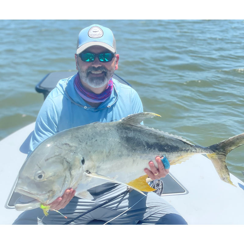 A big jack caught with Bay Street Outfitters
