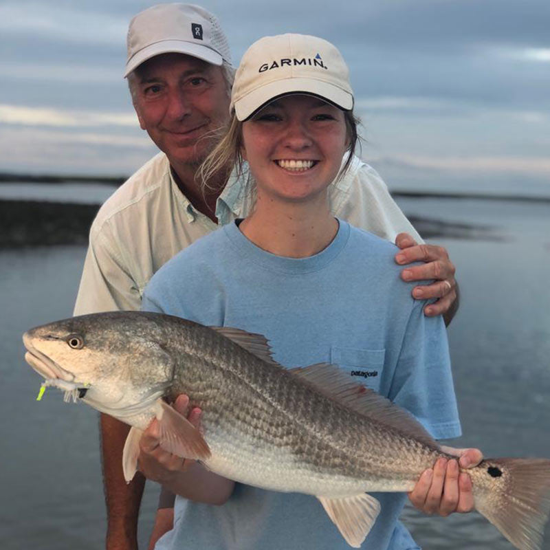A beautiful redfish caught this week with Captain Tuck Scott
