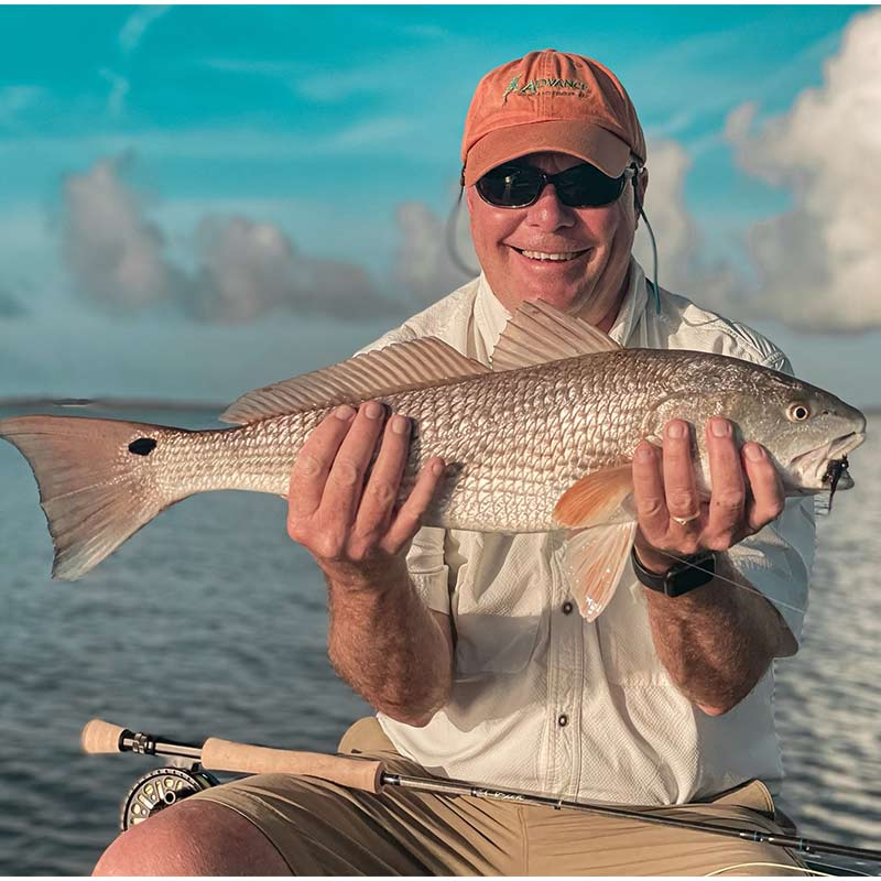 A nice redfish caught this week with Captain Tuck Scott