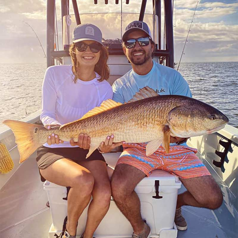 A bull red caught this week with Redfin Charters