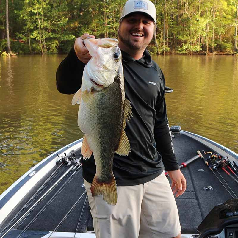 Josh Rockefeller with a giant he caught this week