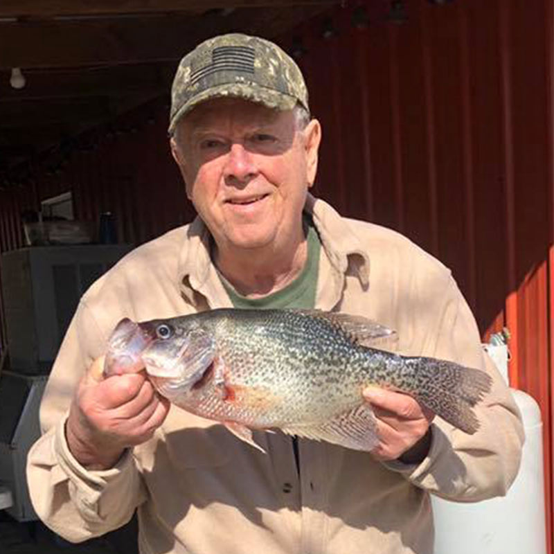 A 2 pound 11 ounce crappie caught recently with William Sasser Guide Service