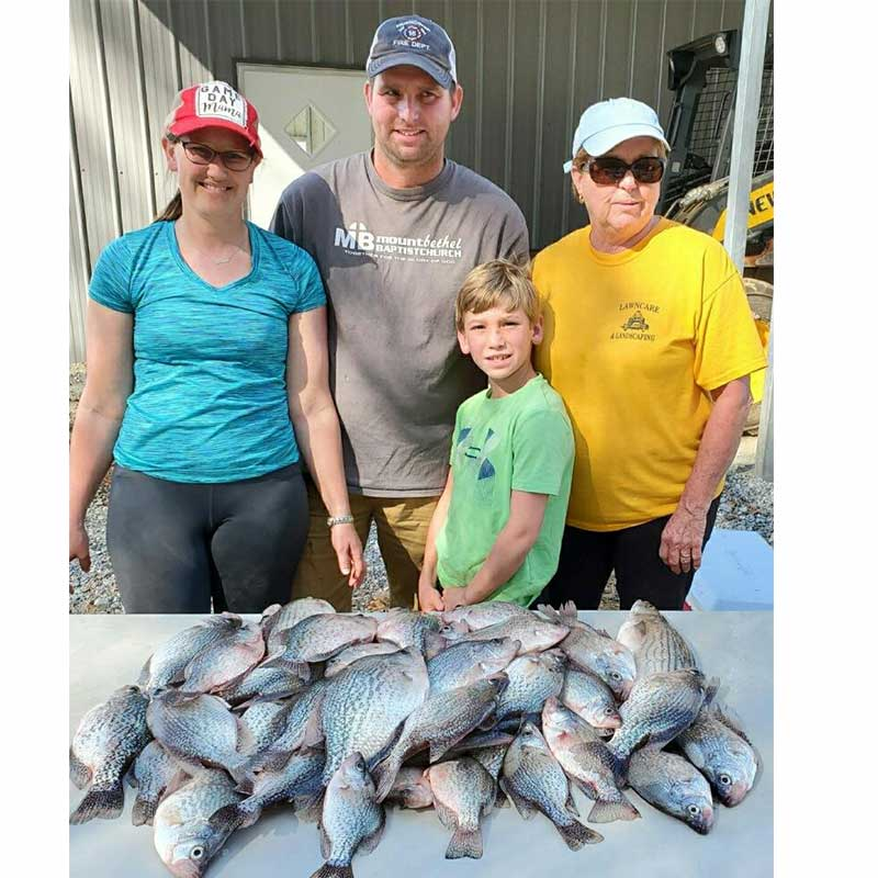 A pile of crappie caught recently with Captain Chris Simpson