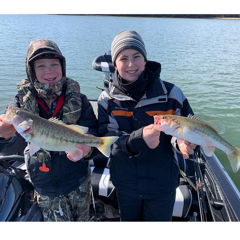 Brad Fowler guided these young anglers to some nice spots this week