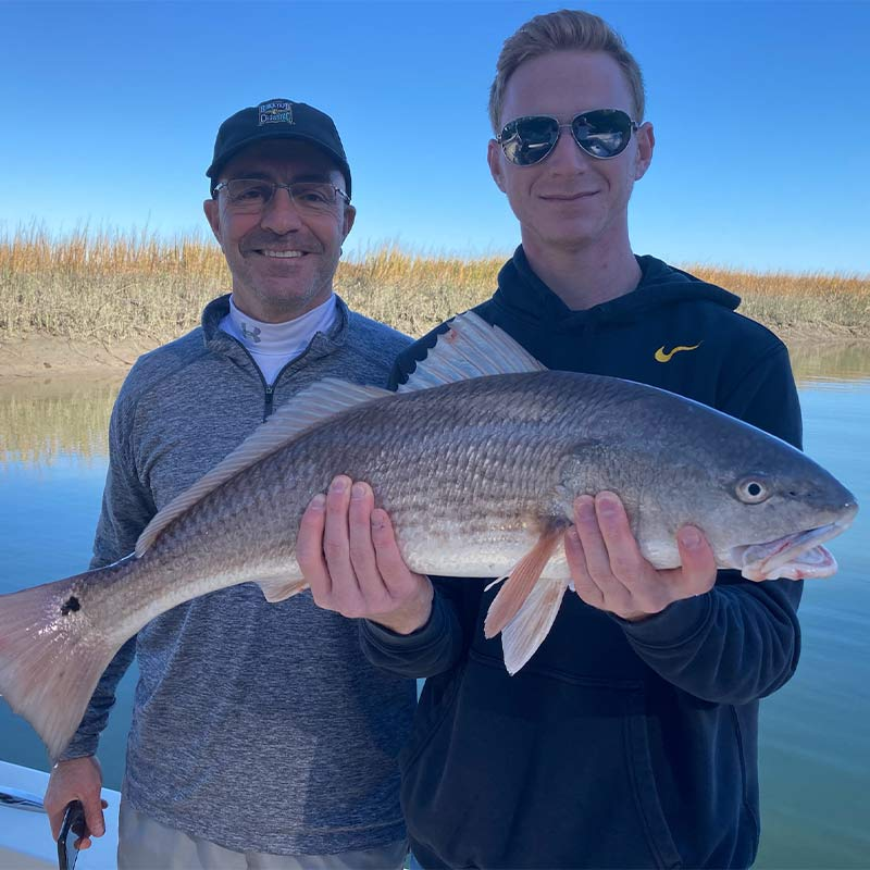 A nice redfish caught recently with Captain Kai Williams