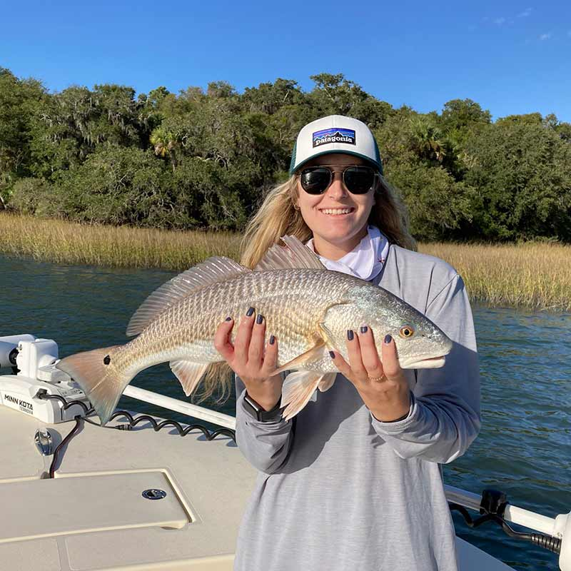 A gorgeous redfish caught last week with Captain Kai Williams