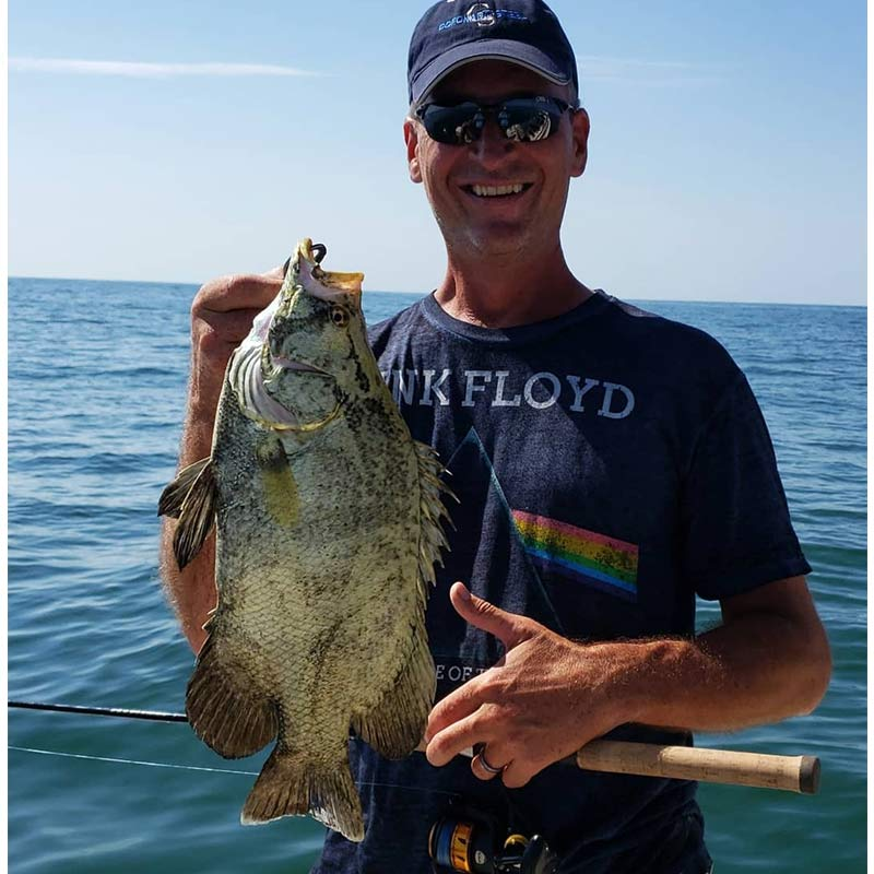 A nice tripletail caught this week with Captain Kai Williams