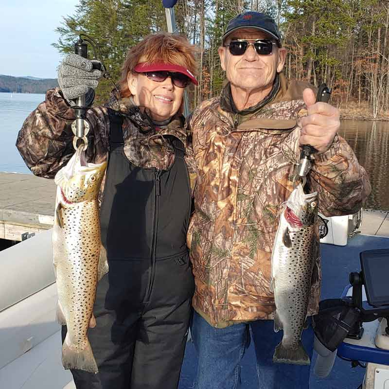A couple of beauties caught Wednesday with Guide Sam Jones
