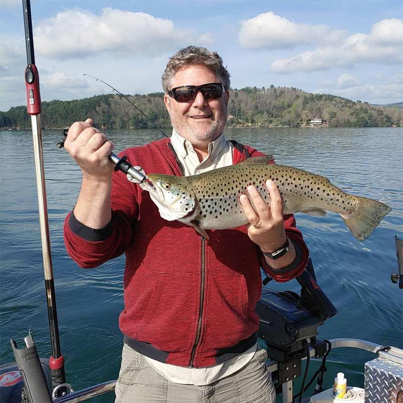 A big, well-fed brown caught this week with Sam Jones