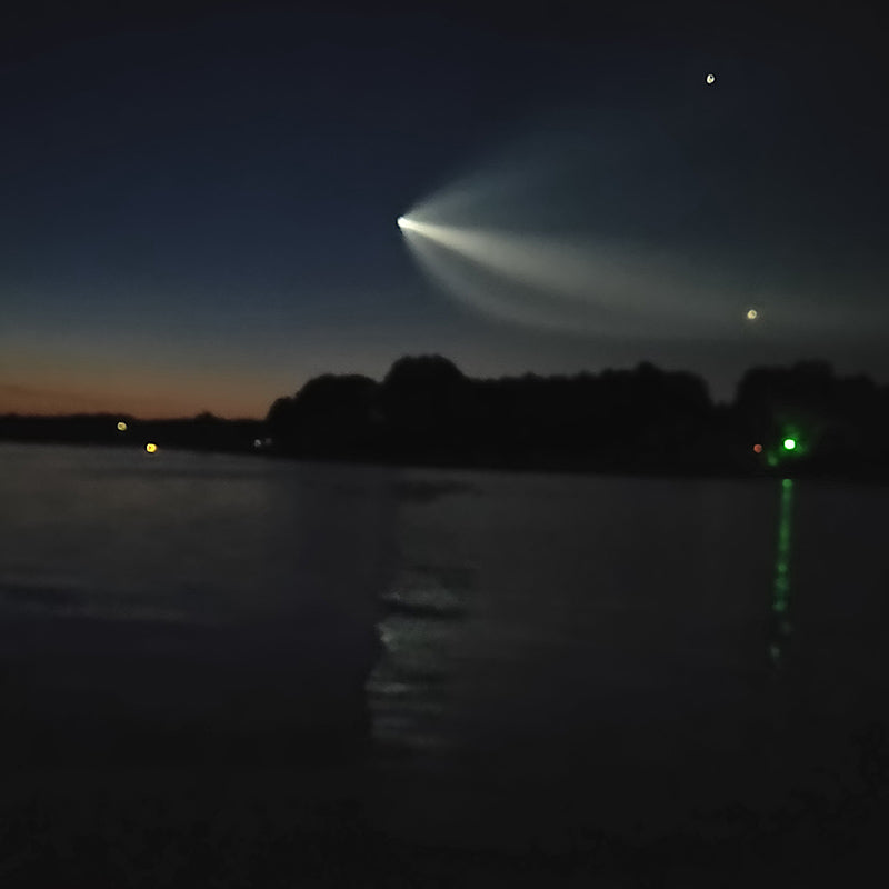 Photo taken as SpaceX came over Lake Keowee last week - courtesy of Charles Townson
