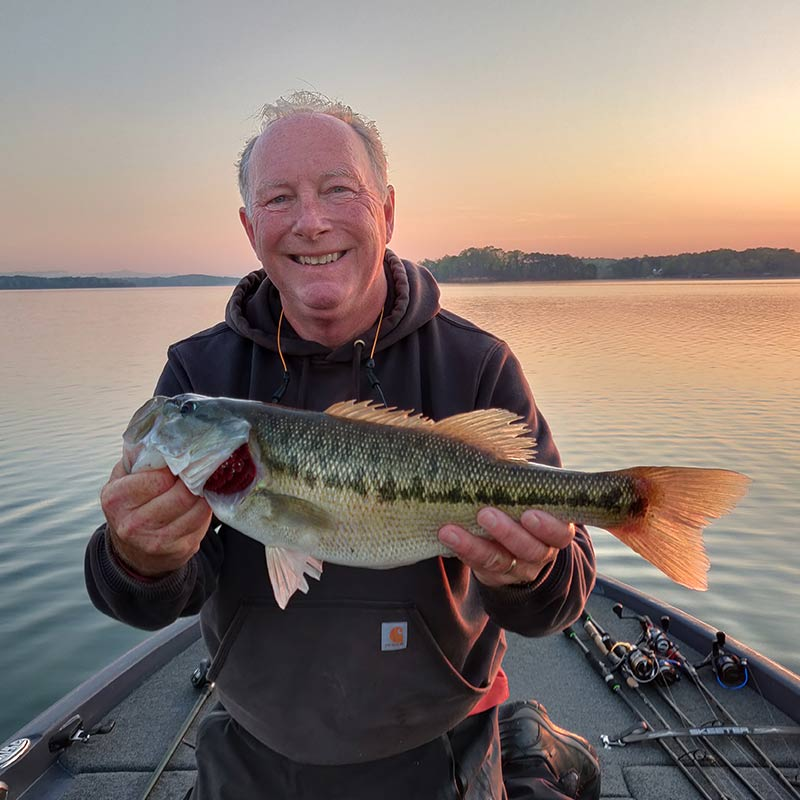 Charles Townson with a nice fish caught early on a topwater lure