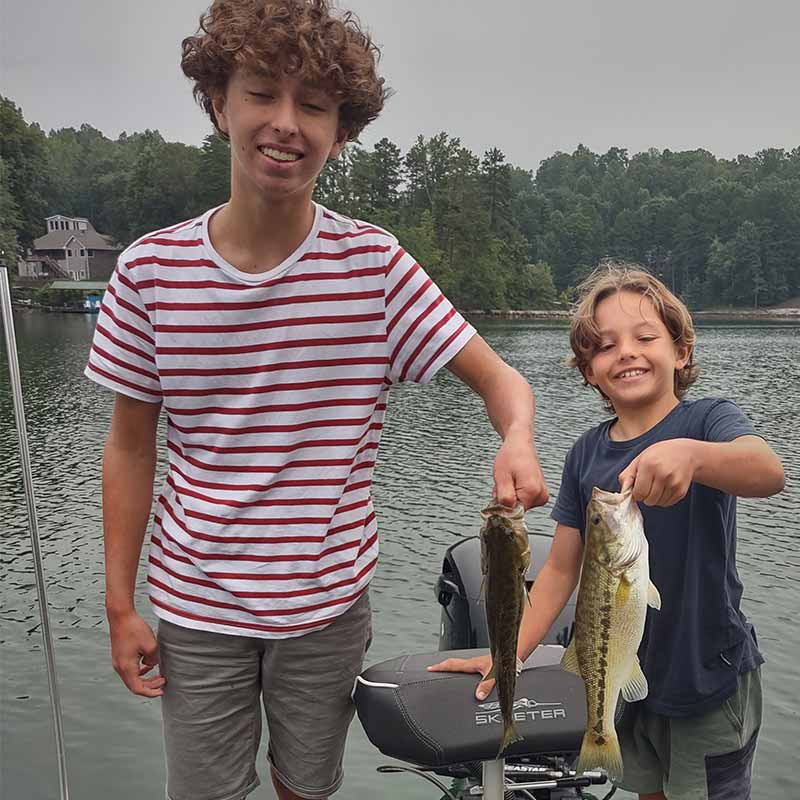 Young anglers caught these fish on a drop shot this week with Guide Charles Townson