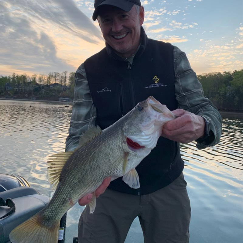 This fish was caught by Bob Allen of the Keowee Anglers with Charles Townson