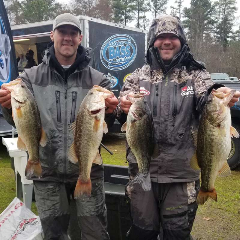 Reid McGinn and Andy Wicker with a nice bag in the CBC last week