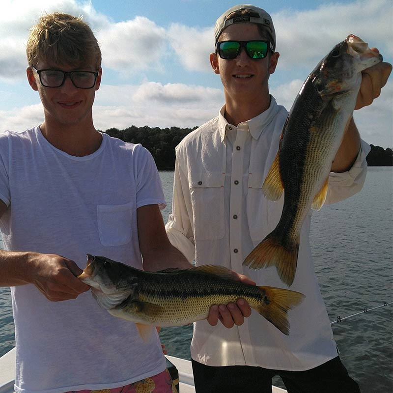 A couple of nice bass caught recently with Guide Jerry Kotal