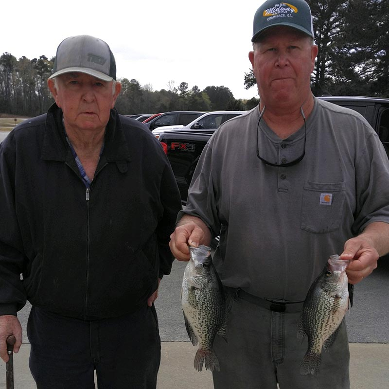 A couple of shallow crappie caught this week with Guide Jerry Kotal