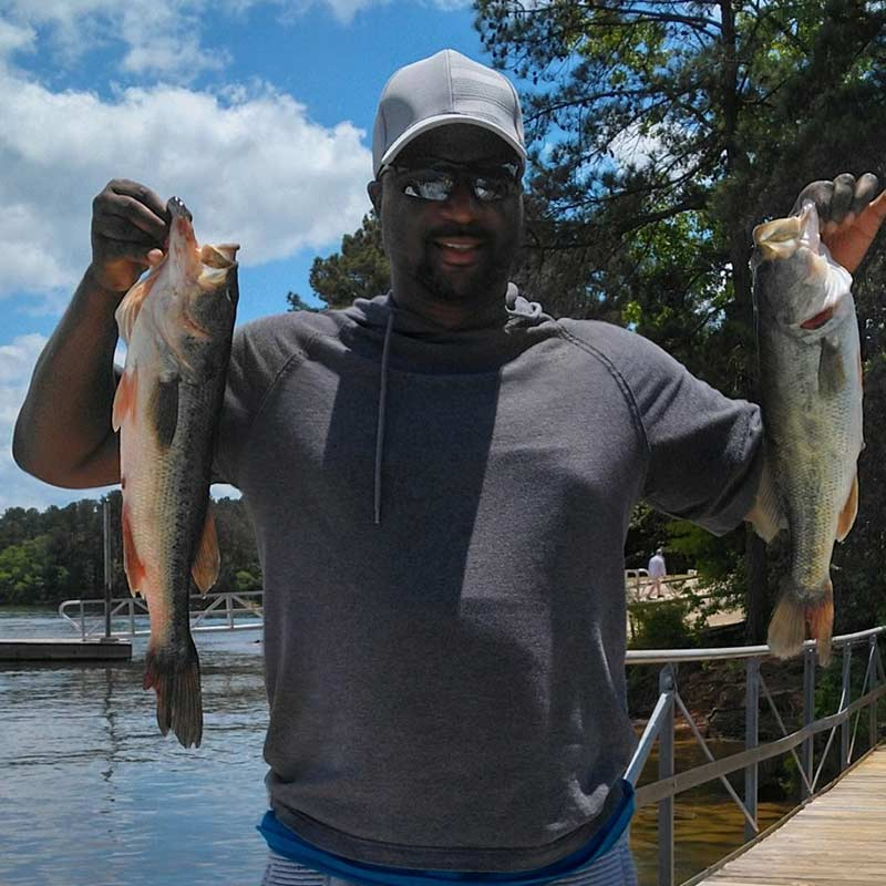 A couple of hungry bass caught recently with Jerry Kotal