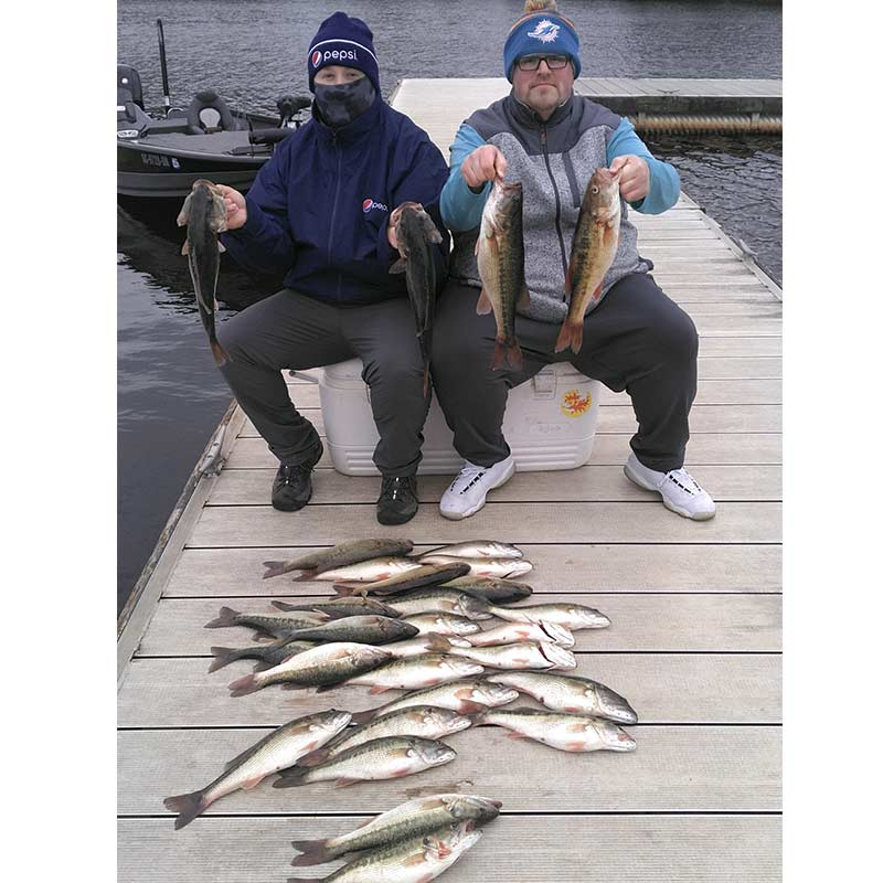 A good mess of fish caught with Guide Jerry Kotal