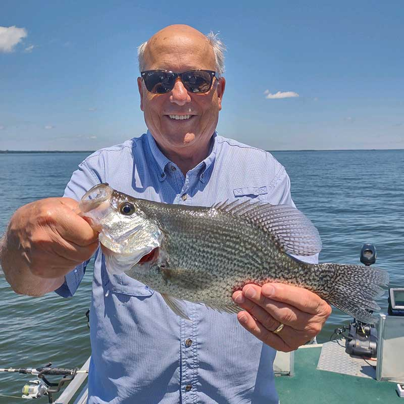 A good crappie caught with Captain Steve English