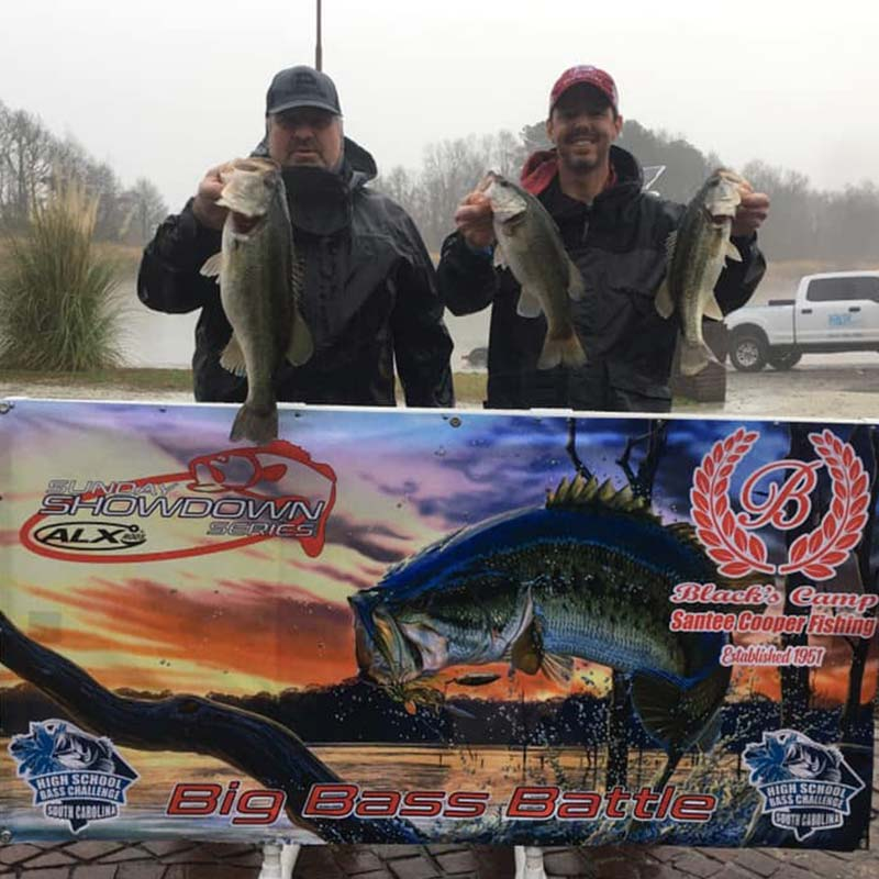 The winning fish - including a 7.62 - in this week's Sunday Showdown Series