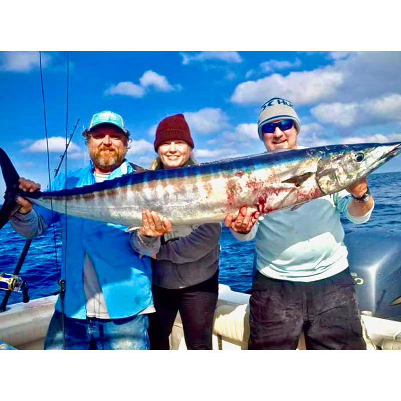 Captain J and co with a big wahoo caught yesterday