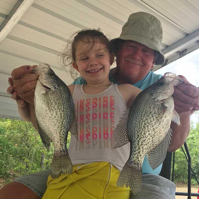 Will Hinson and his fishing buddy with a couple of nice ones