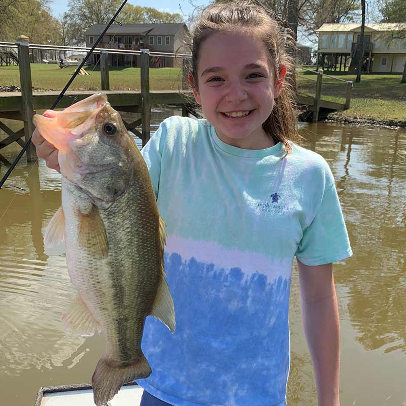 Sarah Rodgers with a good Wateree bass