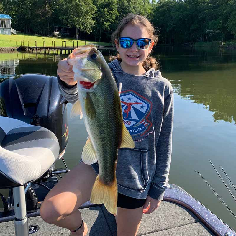 Sarah Rodgers with a good one caught on Wateree this week