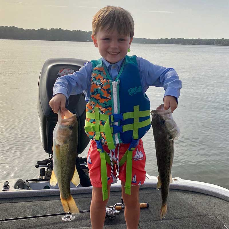 Reid's nephew was very proud of these two fish - as he should be!