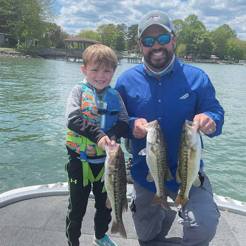 Reid took his nephew to Lake Norman to catch these fish