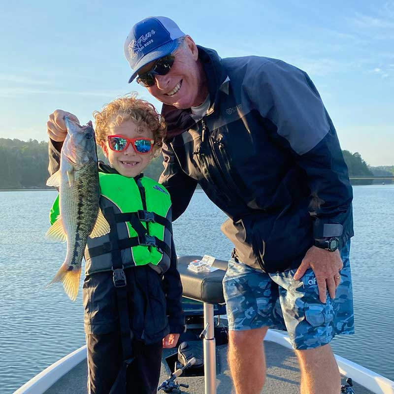 A young angler caught this spot with Charles Townson (pictured) on a crankbait this morning!