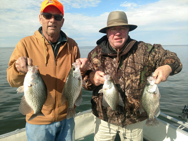 Steve Collins and Wes Matthews of Greenville with some nice crappie caught with Captain Steve English