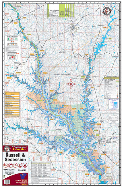 Kingfisher South Carolina Lake Maps - Angler's Headquarters