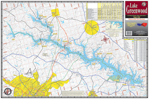 South carolina lake maps angler 39 s headquarters for Lake greenwood fishing report