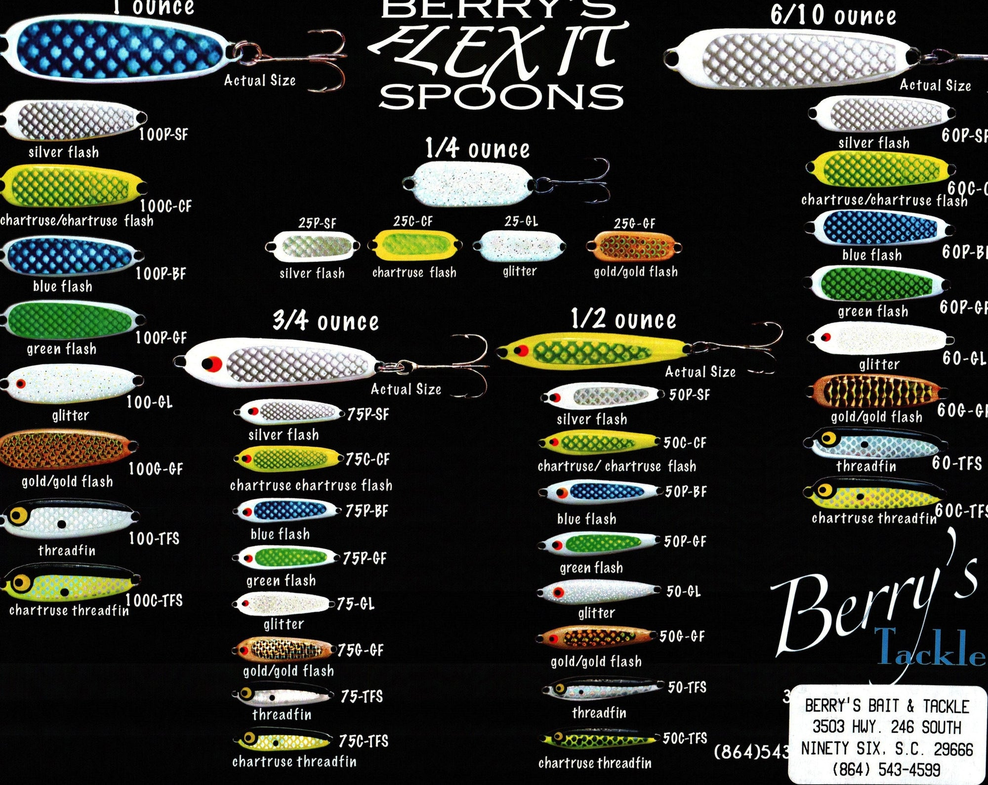 Berry's Tackle Flex-It Spoons - Angler's Headquarters