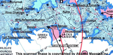 Atlantic Mapping GPS Chart Lake Maps (North Carolina) - Angler's Headquarters