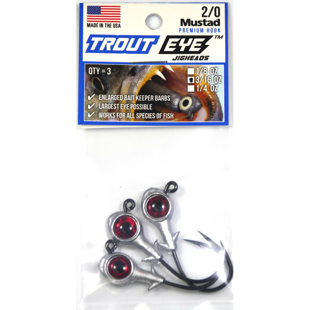 Eye Strike Trout Eye Jigheads (2/0) (3 pk) - Angler's Headquarters