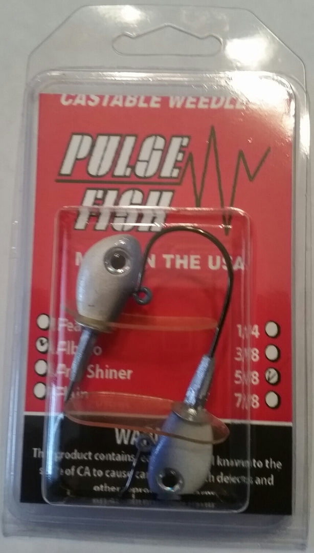 The Pulse Jig (2 Pack Without Baits: Painted Heads) - Angler's Headquarters