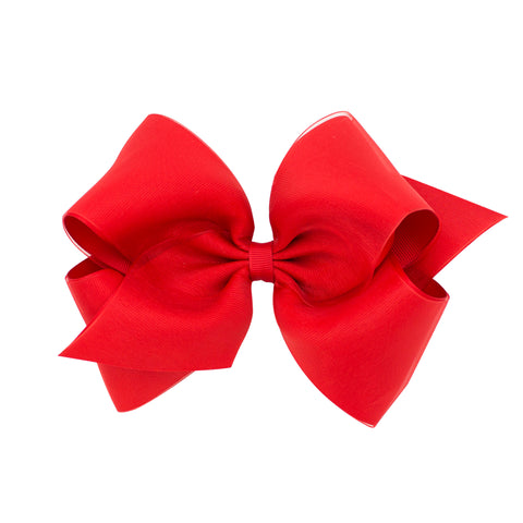 Red Organza Overlay Bow