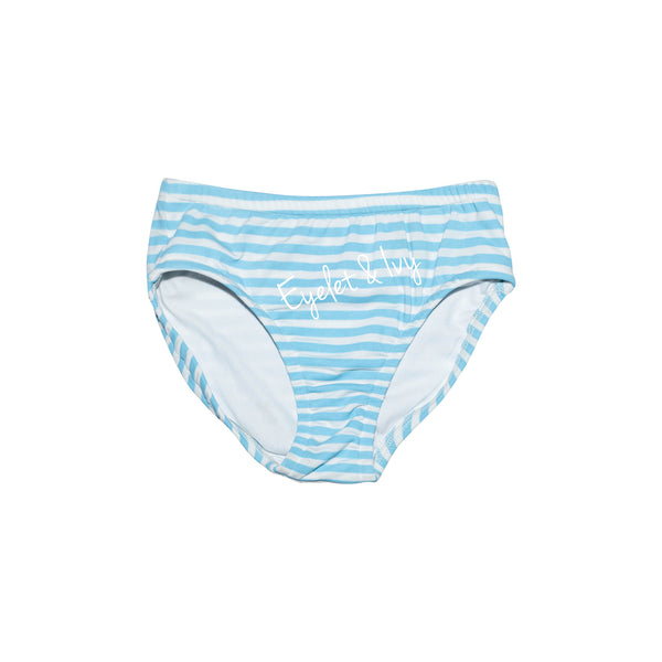 French Blue Stripe Swim Bottoms