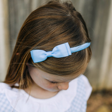Light Blue Bow Headband