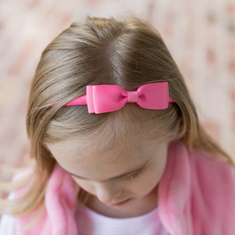 Candy Pink Bow Headband