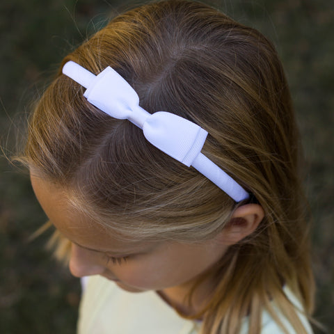 White Bow Headband