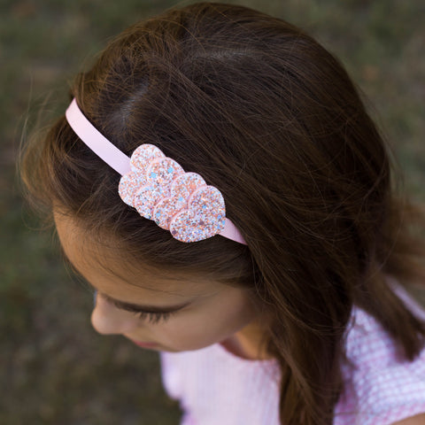 Light Pink Heart Headband