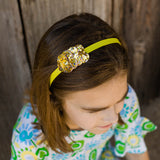 Yellow Heart Headband