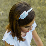 White Heart Headband